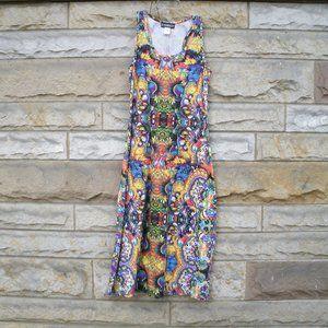 Kaleidoscope Floral Maxi Tank Dress